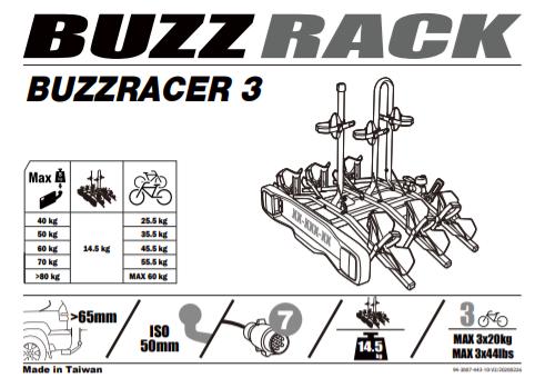 Купить Велокрепление на фаркоп Buzzrack Buzzracer 3 в Туле