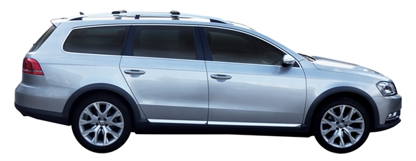 Багажник Whispbar с поперечиной RailBar для Volkswagen Passat 2014, Alltrack 5 Door Estate Nov 2010 - 2014 (Rails) c рейлингами