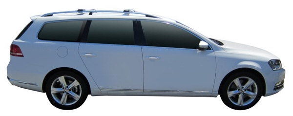 Багажник Whispbar с поперечиной RailBar для Volkswagen Passat 2014, Variant 5 Door Estate Nov 2010 - 2014 (Rails) c рейлингами