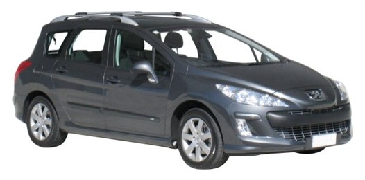 Багажник Whispbar с поперечиной RailBar для Peugeot 308  SW 5 Door Estate Jun 2008 - 2014 (Rails) c рейлингами