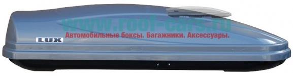 Бокс LUX960 480L серый металлик 1960х780х420 отрытие с двух сторон