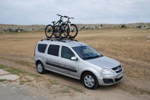 691028 купить в Туле велокрепление LUX для перевозки одного велосипеда на крыше(багажнике)