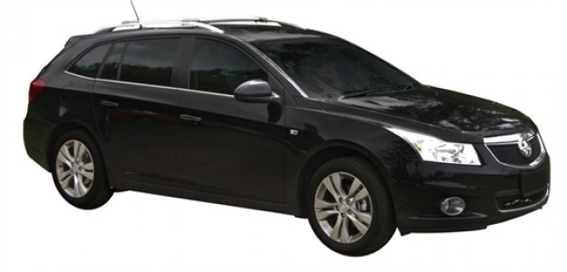 Багажник Whispbar с поперечиной RailBar Chevrolet Cruze универсал, 5 Door Estate 2012 + (Rails) c рейлингами
