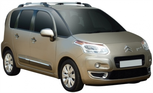 Багажник Whispbar с поперечиной RailBar Citroen C3 Picasso 2009 + (Rails) c рейлингами