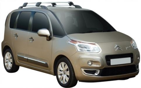 Багажник Whispbar FlushBar Citroen C3 Picasso 2009 + (Rails) c рейлингами