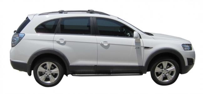 Багажник Whispbar с поперечиной RailBar Chevrolet Captiva, 5 Door SUV 2006 - 2014 (Rails) c рейлингами