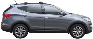 Багажник Whispbar FlushBar для Hyundai Santa Fe 2015, 5 Door SUV 2012 - 2015 (Flush Rails) с низким рейлингом