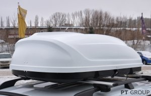 Бокс на крышу Turino (Белый) 175х82х45 открытие с одной стороны