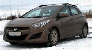 Рейлинги APS на крышу черные или серые для Hyundai i30 2012-