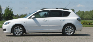 Рейлинги APS на крышу  Mazda 3 2003-2009 черный или серый С ВКЛАДЫШЕМ НОВИНКА ИЮЛЯ 2016!