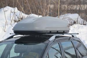 """Бокс-багажник на крышу 480 литров Аэродинамический """"Turino Sport"""" 210х80х45 см Открытие с одной стороны"""