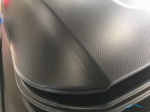 """Бокс автомобильный Евродеталь Магнум 420 литров (серый,белый,черный тиснение """"КАРБОН"""") 1990*740*420 мм  Открытие с 2-ух сторон"""