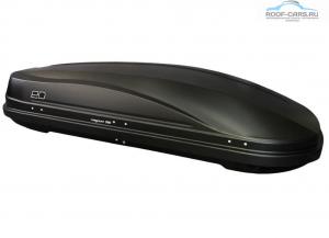 Бокс автомобильный Евродеталь Магнум 390 (черный, серый, белый тиснение «карбон») (1850х840х420) открытие с 2-ух сторон