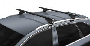 Багажники Menabo TIGER Black (120 см) (секретка) на интегрированные рейлинги