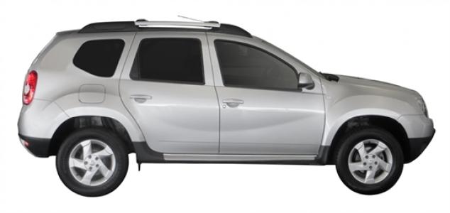 Багажник Whispbar с поперечиной RailBar для Renault Duster, 5 Door SUV 2010 -... (Rails) c рейлингами