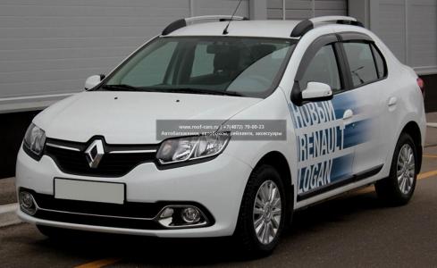 Рейлинги на крышу APS Renault Logan II 2014+