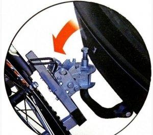 Крепление для перевозки велосипедов на фаркопе Menabo Project Tilting 3