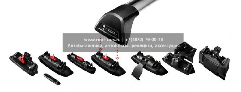 Багажник Whispbar FlushBar для BMW X3 2009, 5 Door SUV 2003 - 2010 (Rails) c рейлингами
