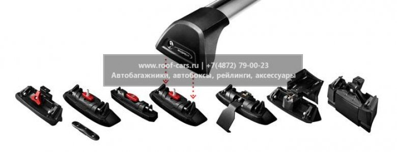 Багажник Whispbar FlushBar  для BMW X3 2013, 5 Door SUV Jan 2010 - 2015 (Flush Rails) c рейлингами